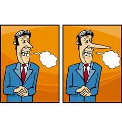 insincere politician cartoon vector image
