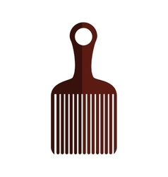 Isolated comb design vector image