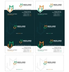 m house business card 2 vector image