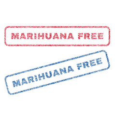 marihuana free textile stamps vector image