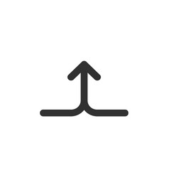 Merge join arrows up linear icon isolated on vector
