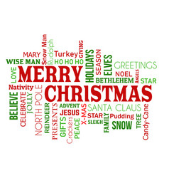 Merry christmas word cloud concept vector