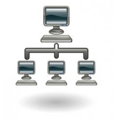network illustration vector image