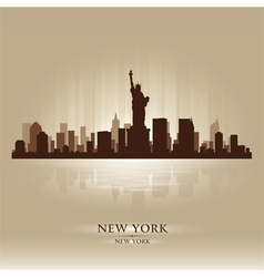 New york skyline city silhouette vector