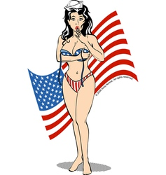 Patriot USA girl vector image