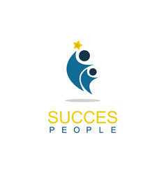 people succes logo vector image