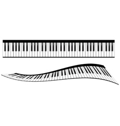 Piano keyboards set vector