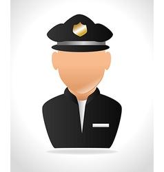 police officer design vector image