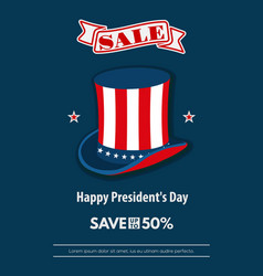 presidents day weekend sale banner poster vector image