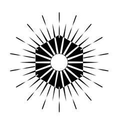 Retro sun burst shape vintage logo label badge vector
