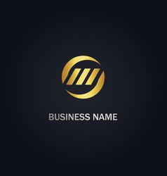 round circle business logo vector image