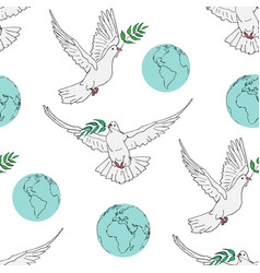 seamless pattern for the international day peace vector image