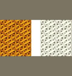 Seamless weave rattan pattern flat art vector