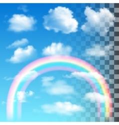 Set of Transparent Cloud vector