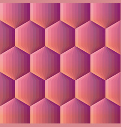 smooth color gradient hexagon mosaic background vector image