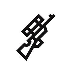 sniper icon gunweapon symbol vector image
