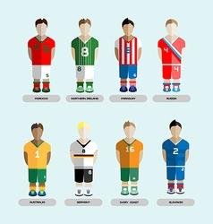 Soccer Club Team Players Set vector