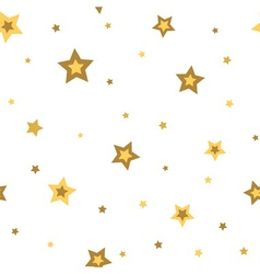 Stars seamless pattern gold white 3D vector