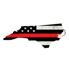 State north carolina firefighter support flag vector