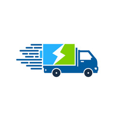 strength delivery logo icon design vector image