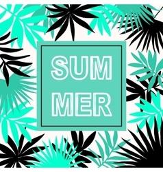 Summer hawaiian typographic flyer design vector