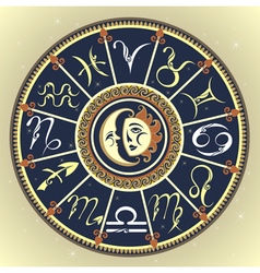 The Horoscope circle with Zodiac signs vector image
