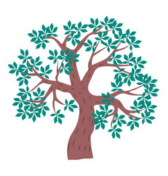 Tree icon cartoon green tree with vector