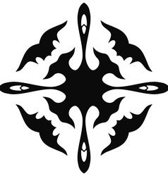 Tribal tattoo design and pattern Isolated on white vector image vector image