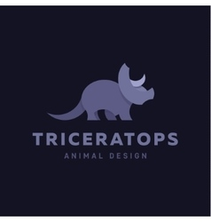 Triceratops Animals Design Dinosaur vector