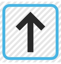Up Arrow Icon In a Frame vector