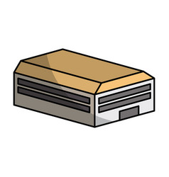 Warehouse building isometric icon vector