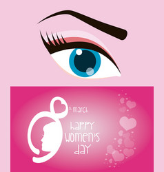 happy womens day eight march eye girl vector image