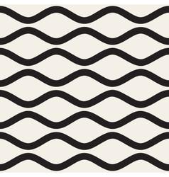 Seamless Black and White Horizontal Wavy vector image vector image