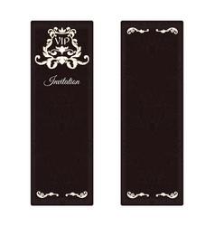 An elegant vertical banner for vip invitations vector