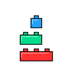 colored linear building toy vector image