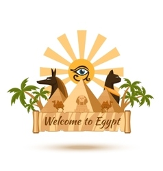 Egypt travel poster element vector image
