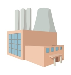 Fossil fuel power station cartoon icon vector