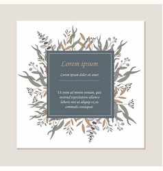 invitation template or greeting card vector image vector image