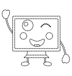 Kawaii cute funny screen monitor vector