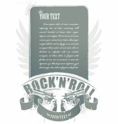 rock n roll banner vector image vector image