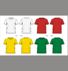 t shirt template vector image vector image