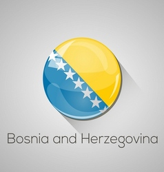 European flags set - Bosnia and Herzegovina vector image vector image