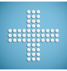 Medical cross from pills vector image vector image