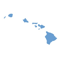 State map of Hawaii by counties vector image vector image
