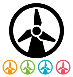 Wind turbine icon vector image vector image