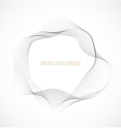 Abstract gray wavy circle background vector image