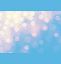 abstract soft yellow bokeh light on blue luxury vector image