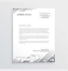 clean gray letterhead design template vector image vector image