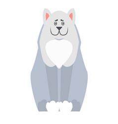 cute dog seating cartoon flat icon vector image