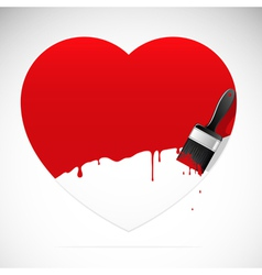 heart brush vector image vector image